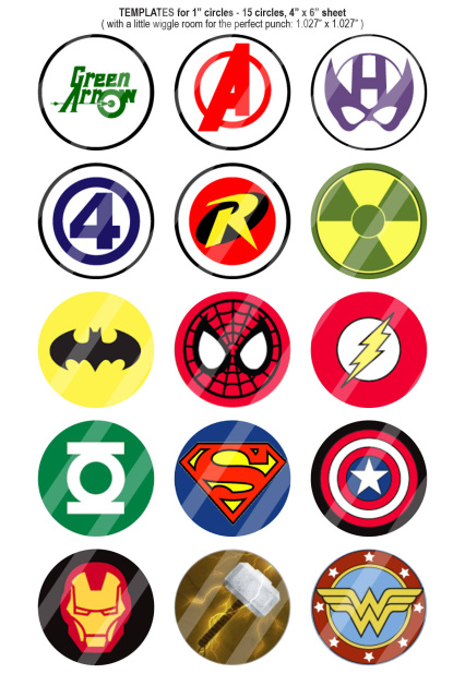 Marvel Super Hero Logos Bottle Cap